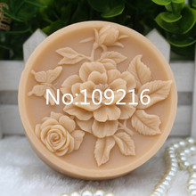 New Product!!1pcs A Bunch of Flowers with Butterfly(zx282) Food Grade Silicone Handmade Soap Mold Crafts DIY Mould
