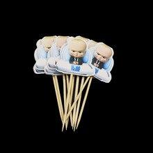 10ชิ้น/ล็อตเด็กBoss Cupcake Topperผลไม้เด็กBossตกแต่งเด็กBoss Cupcake Toppers Party Supplies