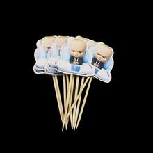 10 Stks/partij Baby Boss Cupcake Topper Fruit Pick Baby Boss Party Decorations Baby Boss Cupcake Toppers Feestartikelen