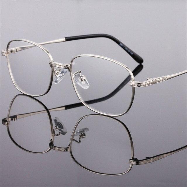 5549c1a42 المألوف سبل القديمة مربع نظارات معدنية دائرية سبائك نظارات الرجال والنساء  قصر النظر إطار وصفة طبية