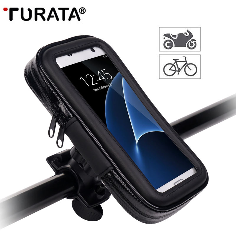 Iphone Bike Mount >> Turata Waterproof Motorcycle Phone holder Bike Bicycle Holder Mobile Phone Mount Holder Bag For ...