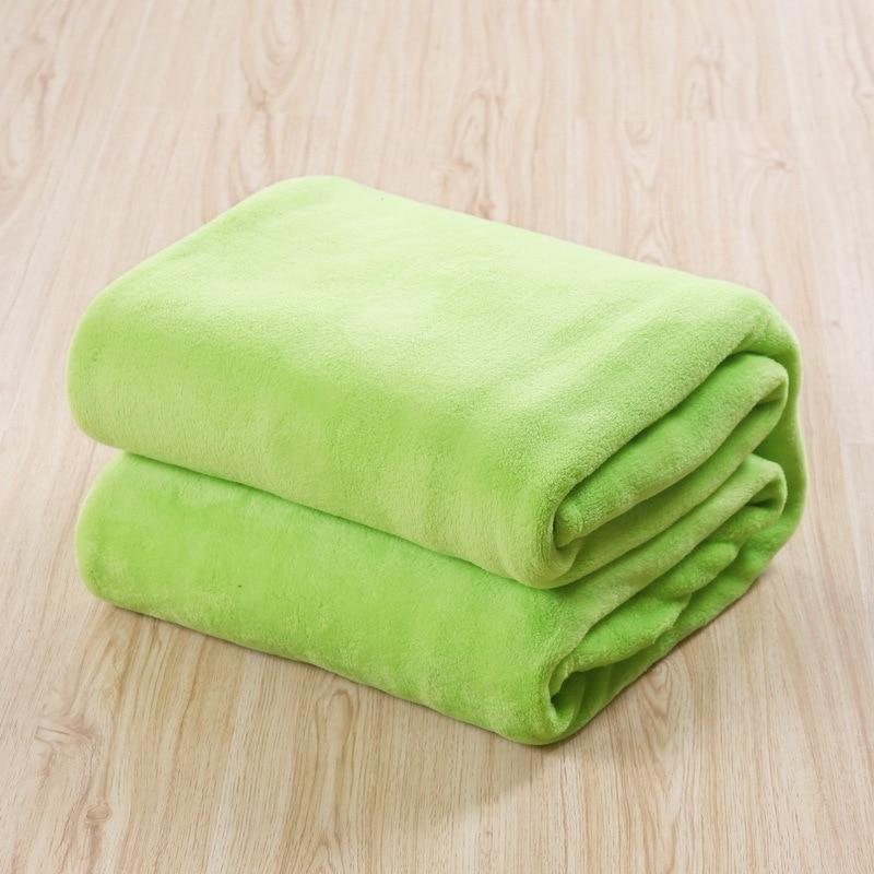 Spring Soft Fleece Blanket Apple Green Printed Coral Fleece Blankets Bed  Blanket Throw On Sofa BedspreadsTwin Full Queen Size