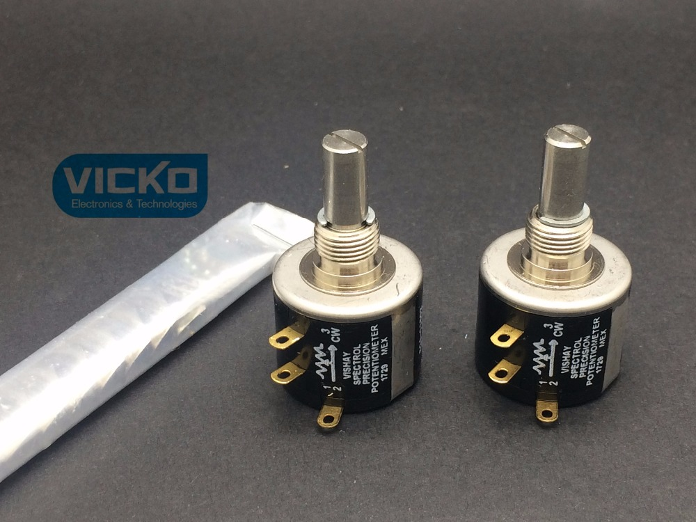 [VK] ORIGINAL Vishay spectrol UK 534-1-1 534 Precision multi-turn multiloop potentiometer 10 laps 1K 2K 5K 10K switch [vk] japan imported sakse multi turn high precision potentiometer s46hd 20 2k switch