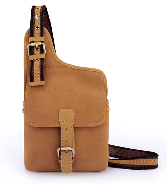 Wholesale Genuine Leather Men shoulder bag Messenger Bags men leather  crossbody bag sling Chest Pack 89008031a15c1