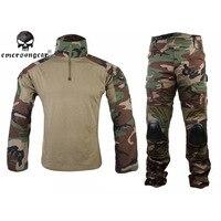 Emerson Tactical Armee Camouflage Jagd Uniform Männer Kleidung Anzüge Militärische Ausbildung Lange Shirt + Pants mit Ellbogenschutz Sportbekleidung