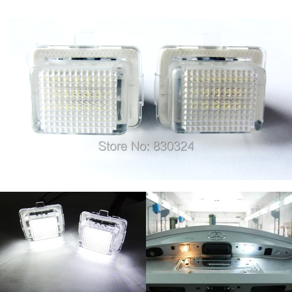 2x18smd no error led number license plate light oem for Mercedes benz light bulb replacement