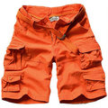 2015 Top Selling High Quality Summer Mens Cargo Shorts Cotton Casual Men Beach Shorts With Belt  11 colors