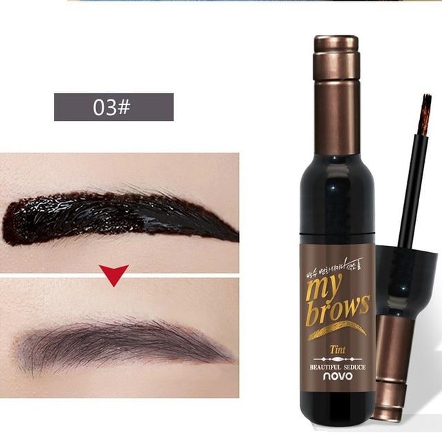Eye Brow Makeup Maquiagem 3D Peel Off Eyebrow Gel + Eyebrow Stencil Natural Eyebrow Tint Tattoo Mascara Brushes Beauty 2