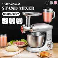 New Stand Mixer 6 Speed Multifunctional Electric Food-Blender Mixer 1000W Meat Grinder Food Processor Dough Beater Kitchen Tools