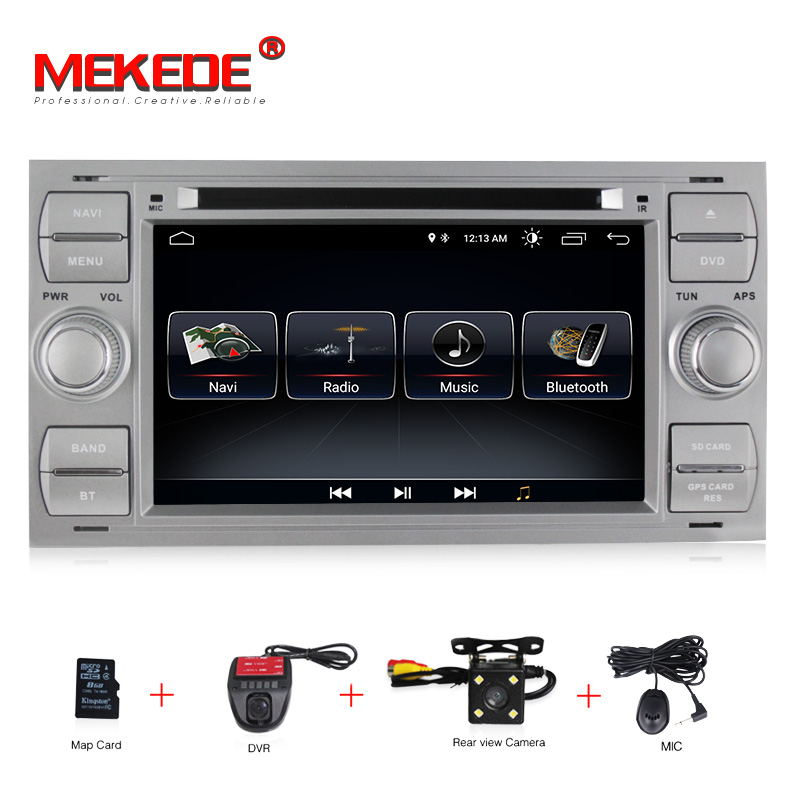 HD Android 8.1 Car DVD GPS Navi Player Stereo Radio Audio For Ford Focus 2 Mondeo S C Max Fiesta Galaxy Connect With 8G map