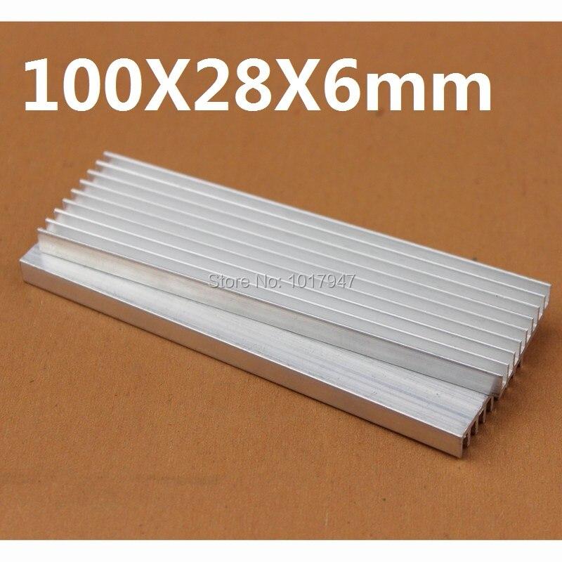 1 Pieces lot 100x28x6mm Aluminum Heatsink For Electronics Computer Electric Equipment