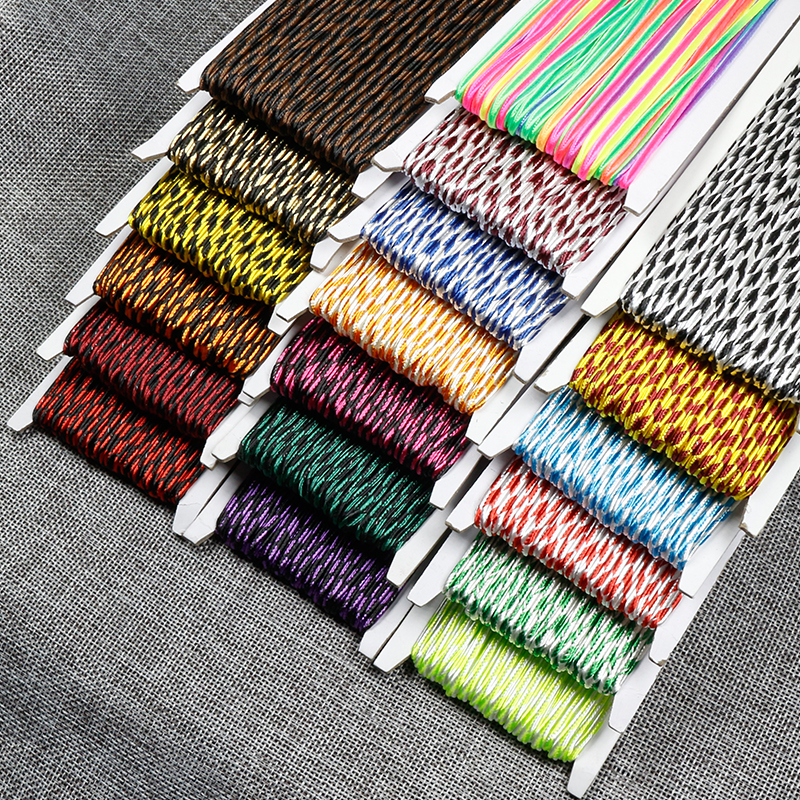 34 Yards/lot(31Meter) 3mm Chinese Soutache Cords Two-tone Snake Belly Nylon Rope Thread Cords DIY Jewelry Making Accessories