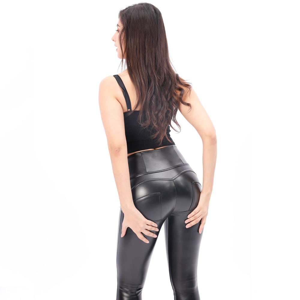 Leather Black Pants Women