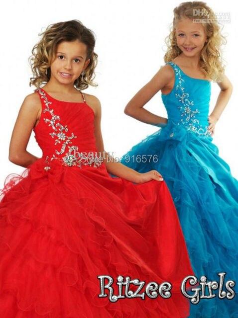 Vestidos de fiesta para ninas rojos