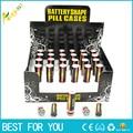 48 unids/lote envío libre batería secreto Stash diversion Safe pill caja ocultada de las monedas del dinero