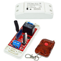 Remote Control Wireless Light Switch Delay Timer Switch 433mhz5V 10A Receiver For Gate Windows Curtains Lighting