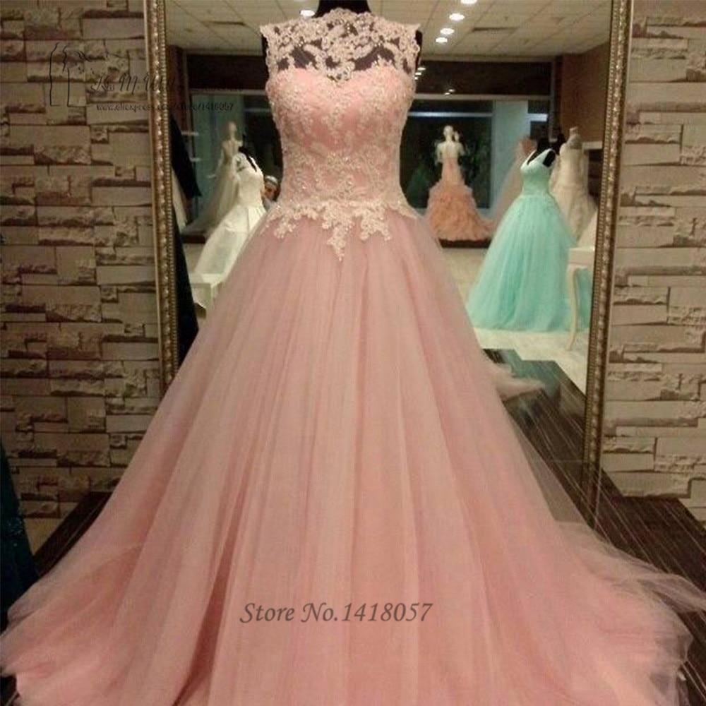 US $17.17 17% OFFVintage Rosa Hochzeitskleid 17 Prinzessin Brautkleider  Spitze Braut Kleider Tasten Vestidos de Noiva Com Foto Echt