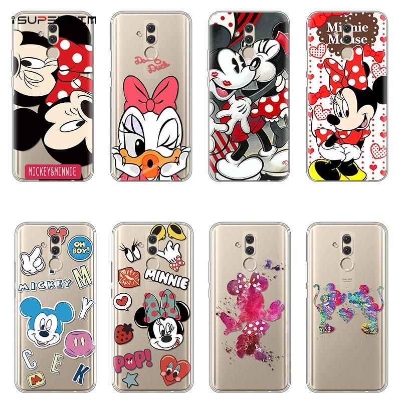 TPU Soft Minnie Mickey For Huawei Mate 20 Lite Case 6.3