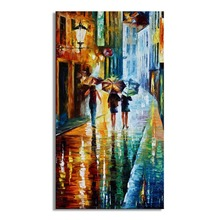 painting Handpainted Abstract Modern Wall Painting tree Road Palette Knife On Canvas Home  Decoration A014