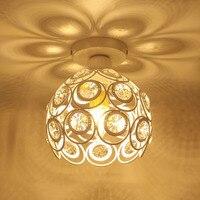 Lámpara de techo moderna de estilo nórdico con flores de cristal  lámpara de techo montada en el techo E27 para pasillo y pasillo  portalámparas con pantalla de hierro|Luces para el techo| |  -