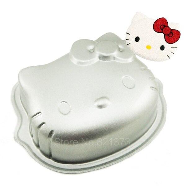 Бесплатная доставка 6 Рисунок «Hello Kitty», оптовая продажа 3D HelloKitty Помады Украшения Торта Инструменты кекса, Kity для кухни Формы для выпечки