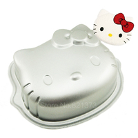 Free Shipping 6 Hello Kitty Mold Wholesale 3D Hellokitty Fondant Cake Decoration Tools Pan Moulds Kity