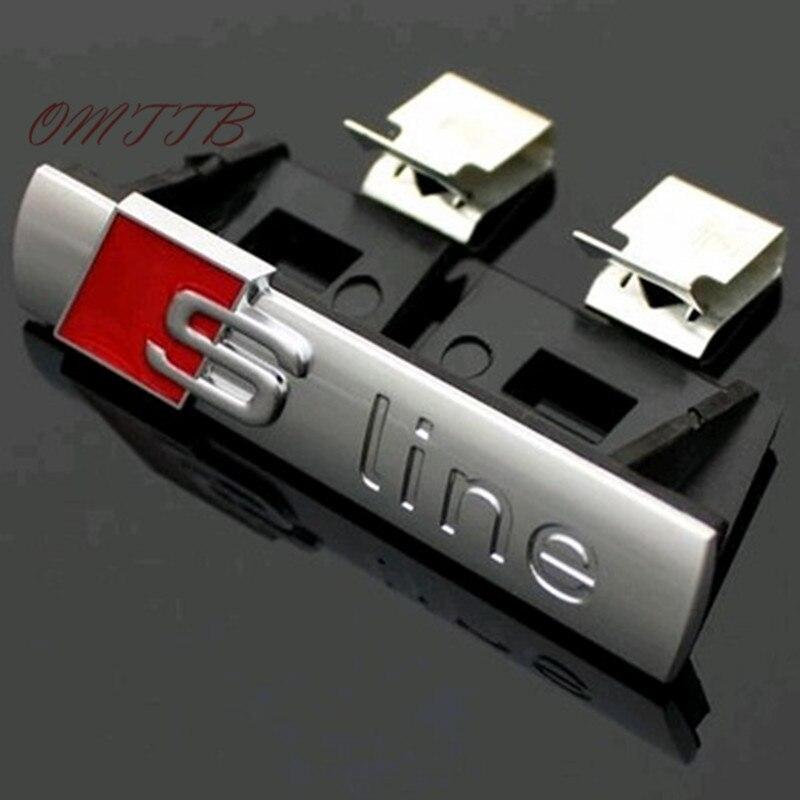 5pcs Chromed Emblem Badge Decor Sticker SLine S Line logo Stickers for Audi A5 A6 A7 A8 Q3 Q5 Q7 S3 S4 S5 S6 S7 R8 car styling