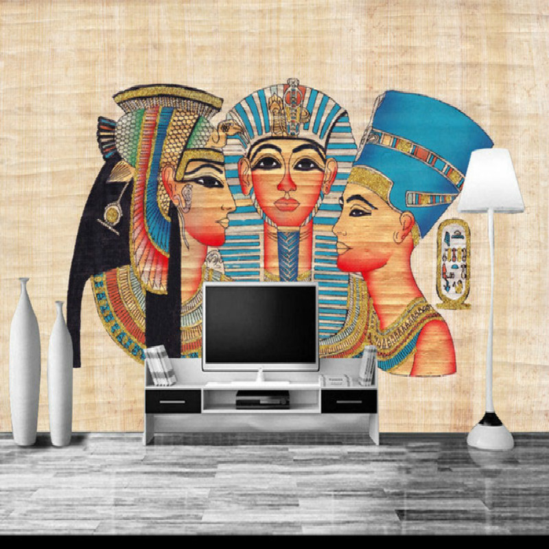Egypt backdrop of large wall mural painting living room bedroom 3D wallpaper TV backdrop stereoscopic 3D wallpaper stone vine leaves mountain large mural 3d wallpaper tv backdrop living room bedroom wall painting three dimensional 3d wallpaper