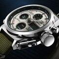 2017 OHSEN Мужские Часы Dual Time Zone Alarm ЖК-Спортивные Часы Мужские Кварцевые Наручные Часы, Силиконовые Водонепроницаемый Dive Спортивные Цифровые Часы