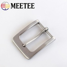 1pc Fashion Solid Stainless Steel Belt Buckles Metal Pin Head for Mens Jeans 38-40mm Wide DIY Leather Craft