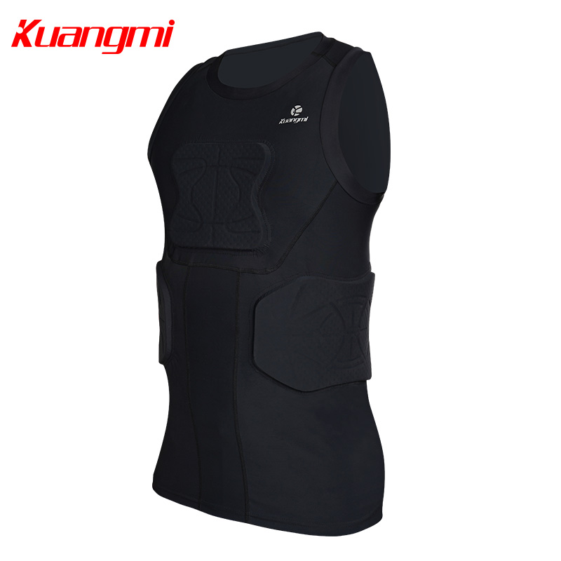 Kuangmi Men Gym Clothing Fitness Sportswear Compression Tights Suits Running Sport Tight Jogging T shirt and Pants Set Clothes - 3