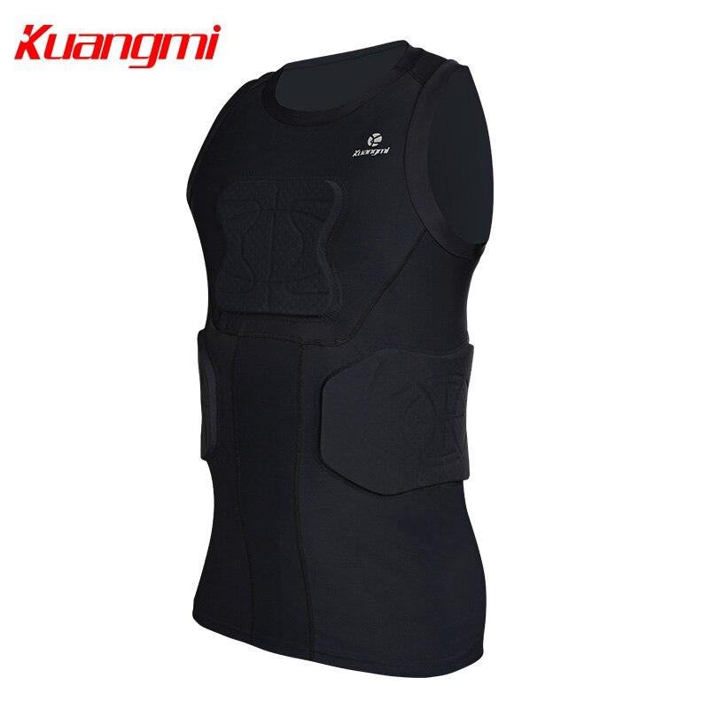 Kuangmi Uomini Palestra Abbigliamento Sportivo di Fitness di Compressione di Calzamaglie Abiti Corsa e Jogging Sport Da Jogging T Shirt e Pantaloni Set Vestiti - 3