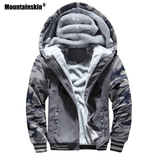 Mountainskin Winter Men's Hoodies Fleece Thick Jackets Camouflage Hooded Coats Mens Casual Tracksuits Male Sweatshirt 5XL SA579(China)