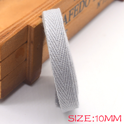 Новые цветные 10 мм шеврон хлопок ленты тесьма сельдь bonebinding ленты кружева обрезки для упаковки аксессуары DIY - Цвет: grey 004
