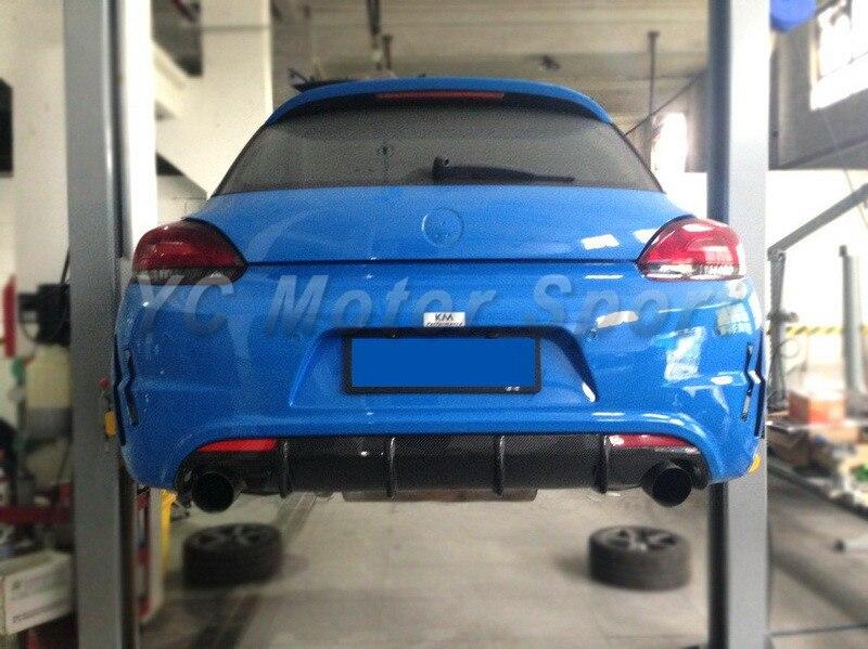 Автомобильные аксессуары углеродного волокна Cup гонки GT24 Стиль сзади диффузор, пригодный для 2008 2012 VW Scirocco R сзади диффузор автомобиль Стайли