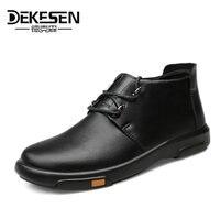 DEKESEN Brand 2018 New Arrival 3 Colors Men Fashion Sneakers High Top Mens Casual Shoes Genuine
