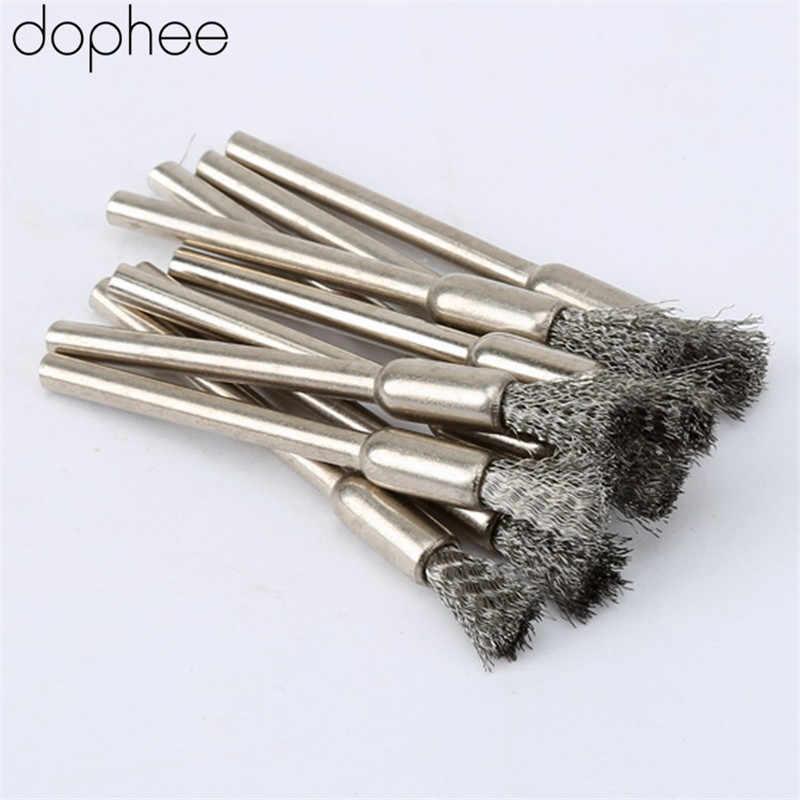 20Pcs 6mm Brass Mini Wire Pencil Brush Set for Rotary Dremel Tool Accessories
