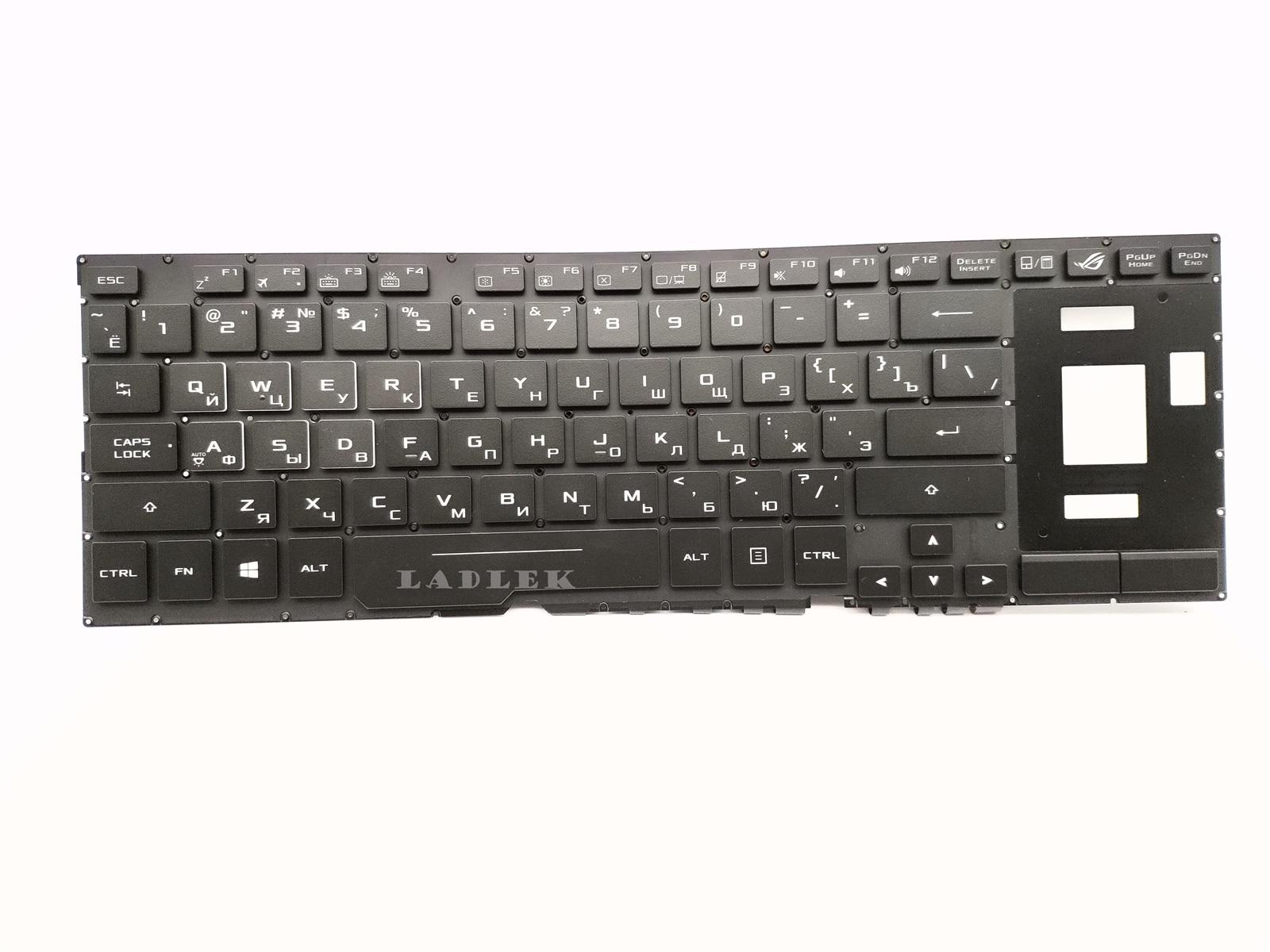 New Russian Backlit Keyboard for Asus GX501 GX501VI GX501VIK GX501VS GX501VSK V161162BS1 0KN1 161RU21 0KNB0 6617RU00