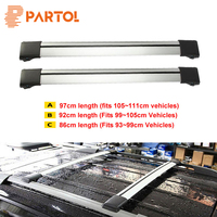 Partol 2x Car Roof Rack Crossbar Roof Luggage Carrier Roof Rail Top Box Snowbord Bike Carrier