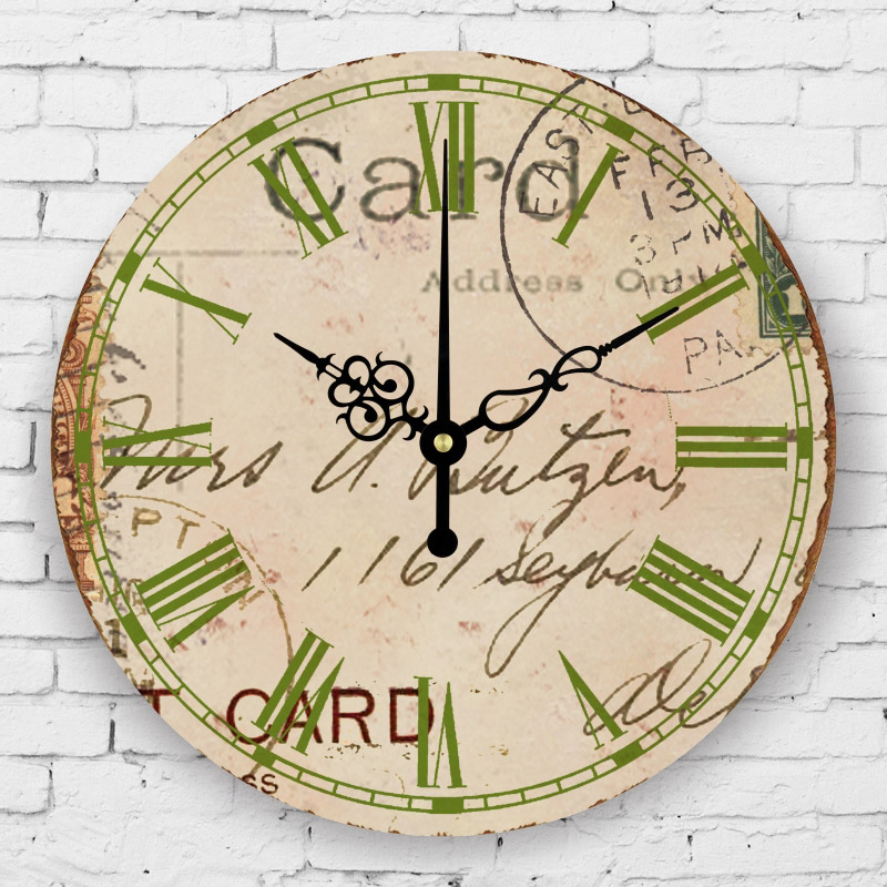 bedroom decorative wall clock roman number silent wall clock vintage