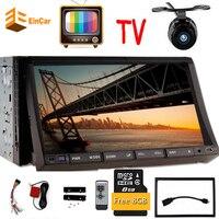 TV + 2 din autoradio gps di navigazione volante doppio 2din Radio Lettore DVD Auto In Dash Stereo Video Lettore Multimediale TV