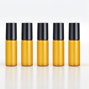Image 5 - 100pcs/lot 5ml Mini Portable Amber Essential Oil Bottle Empty Perfume Roll on Bottle Metal Ball Roller Brown Essential Oil Vials