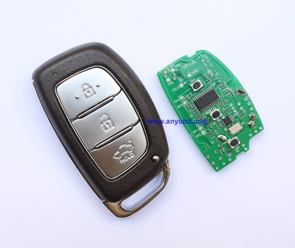 System Go Smart Key Push Button Remote Start Car Alarm For Hyundai