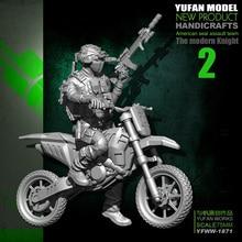 Yufan Model Original 75mm 1/24 Motorcycle  Us Army Resin Soldier Yfww-1871