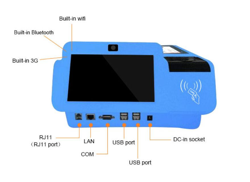 15.6 Inch Android Pos Device Pos Hardware Android Pos Terminal With