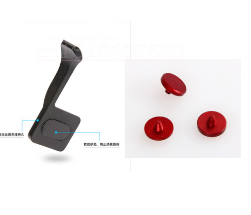 4in1 Red Shutter Release Button + GRIP THUMBS Thumb Button Finger Buckle Fo Fuji X-PRO1 X-E2 X-A1 X100 X100S X10 X20 X-M1 X-A1