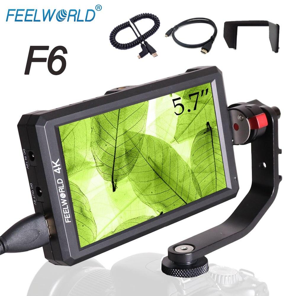 Feelworld F6 5.7 IPS FHD 1920x1080 On-camera Field Monitor with 4K HDMI Input/DC Output forDSLR Sony Nikon Zhiyun Stablizer Rig видеокамера sony fdr x1000v 4k