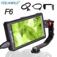 Feelworld F6 5,7 ips FHD 1920x1080 на камеру поле монитор с 4 К HDMI Вход/ DC Выход forDSLR sony Nikon Zhiyun Stablizer Rig