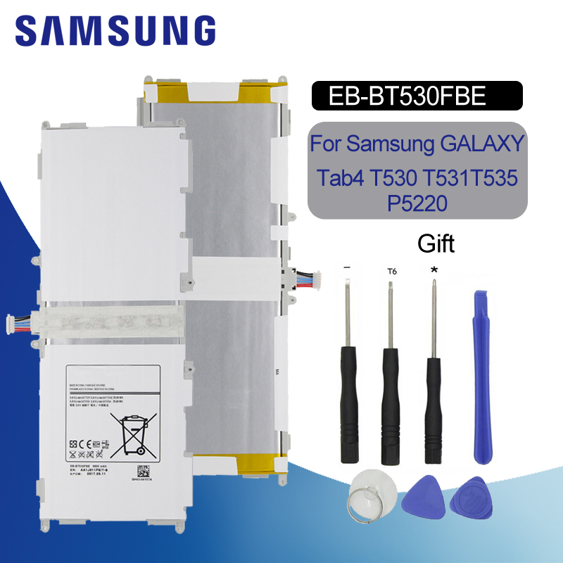 Original Battery For SAMSUNG T530 EB BT530FBU 6800mAh For Samsung Galaxy Tab 4 SM T530 T531