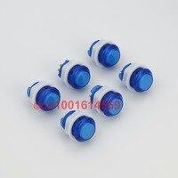 6 Unids/lote 24mm Lámpara LED LED Arcade Botones de Selección Para la Lucha palo Super Street Fighter Joystick Controlador de Juegos de PC USB-Azul